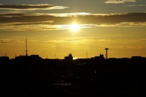 Pentax K-rで撮った夏の夕焼けはダイナミックな色彩が素晴らしい